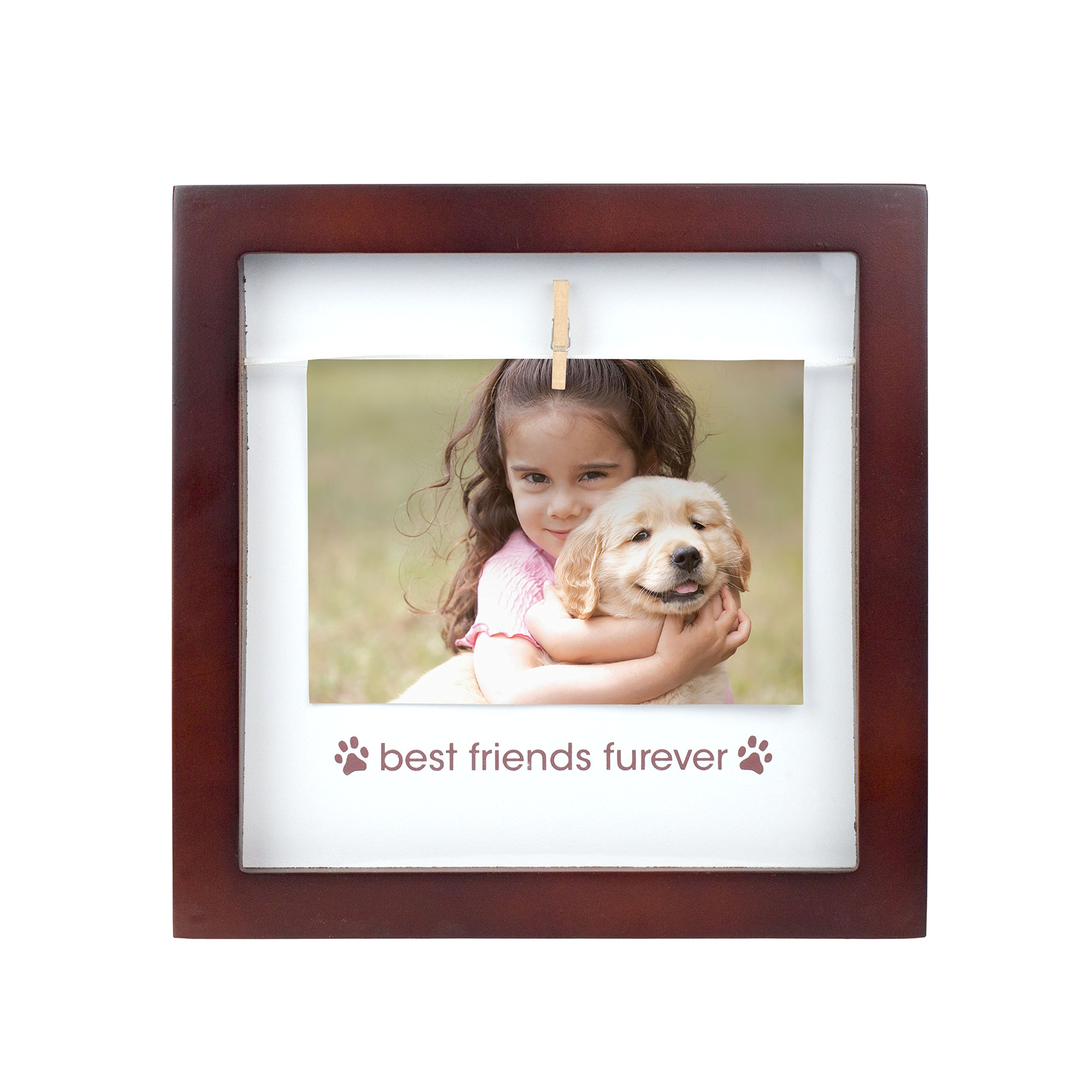 Pearhead Pet Best Friends Furever Clothespin Photo Frame, Perfect Keepsake Gift for Pet Lovers