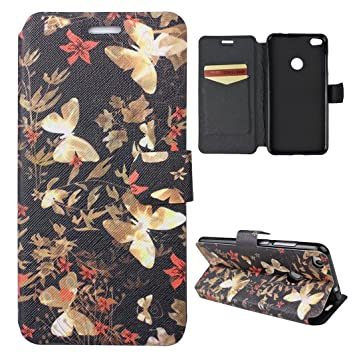 Rosa Schleife Huawei Honor 8 Lite Flip Case, PU Leather