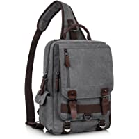 3ae268dddf76 Leaper Retro Messenger Bag Canvas Shoulder Backpack Travel Rucksack Sling  Bag
