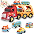 Toddler Toys Car for Boys: Kids Toys for 2 3 4 5 6 Year Old Boys | Boy Toys 5 in 1 Carrier Toy Trucks | Toddler Toys Age 2-4
