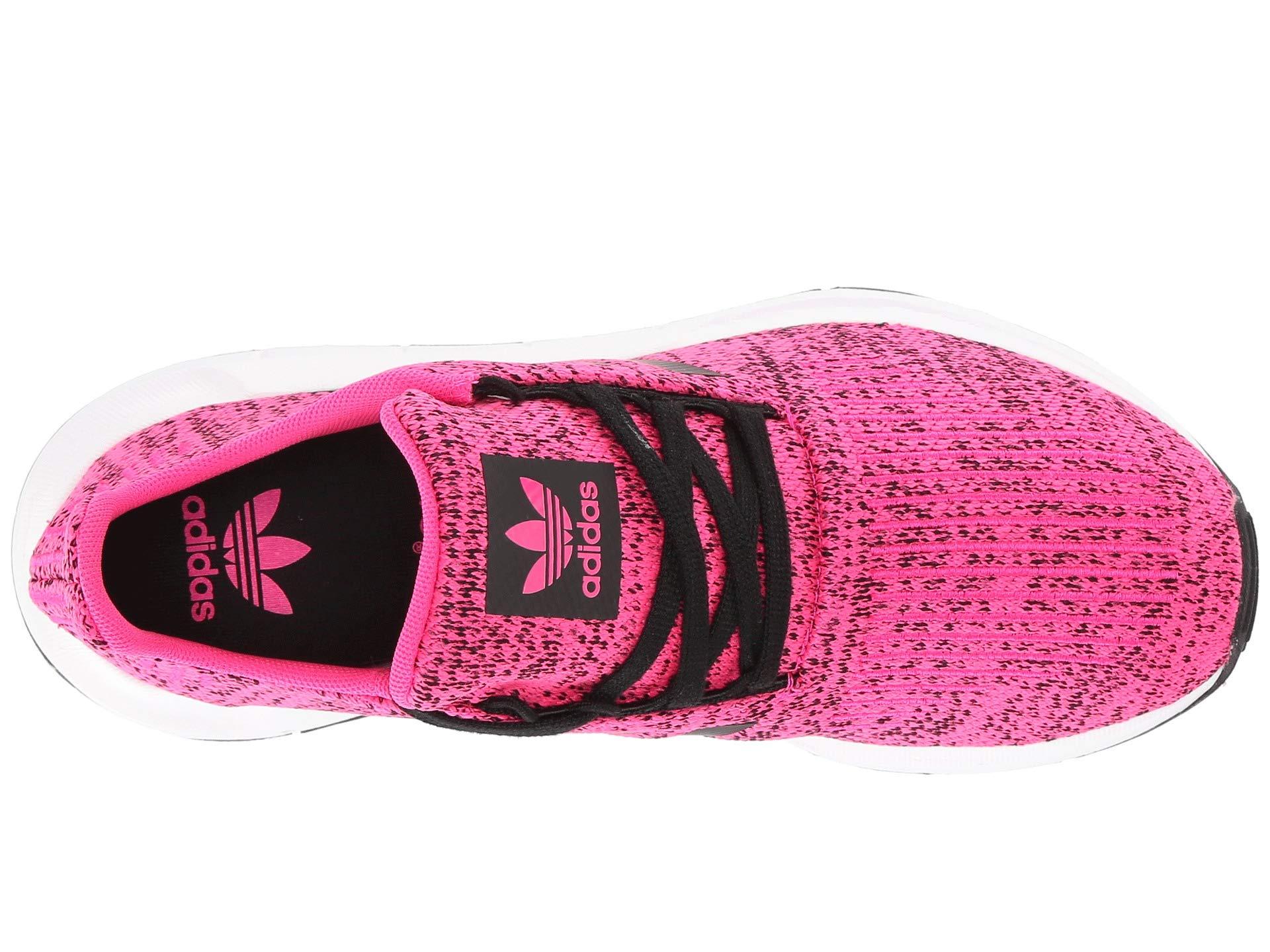 adidas Originals Kids Girl's Swift Run J (Big Kid) Shock Pink/Black 4.5 M US Big Kid by adidas Originals (Image #9)