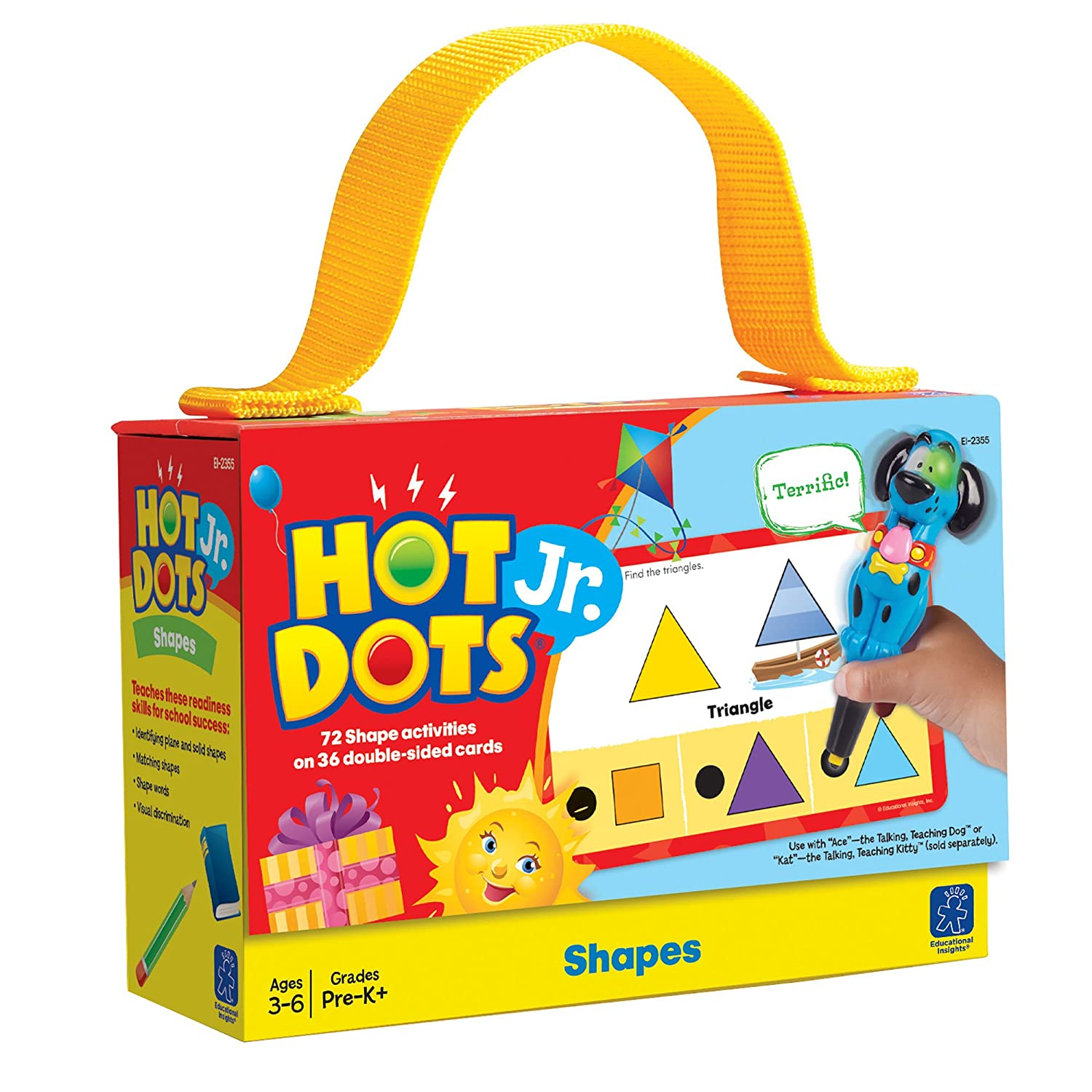 Educational Insights Hot Dots Jr. Cards - Shapes, Varies 2355
