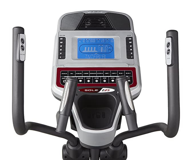 Sole E25 - Elíptica de fitness (heavy duty, manual, ritmo cardiaco) , color negro: Amazon.es: Deportes y aire libre