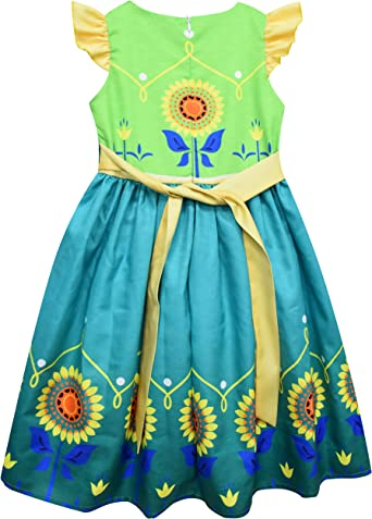 Heariao Cute Fairy Girls Princess Dresses Costumes for Kids Birthday Party Dress Up Performance Outfis