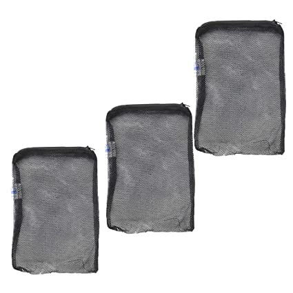 Slson 12 Pcs Aquarium Filter Bag Nylon Media Mesh Bags Reusable Net Bags With Pl Fish & Aquariums