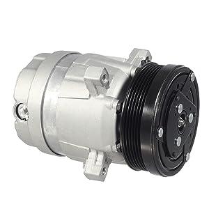 AUTEX AC Compressor & A/C Clutch CO 20446C 67291 Replacement for Chevrolet S10 1998 1999 2000 2001 2002 2003 2.2L/GMC Sonoma 1998 1999 2000 2000 2001 2002 2003 2.2L/Isuzu Hombre 1998 1999 2000 2.2L
