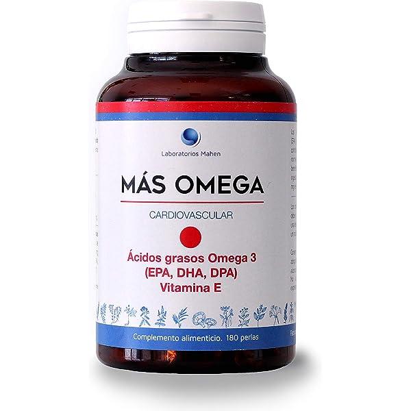 Mahen Complemento alimenticio a base de ácidos grasos Omega 3 - 180 perlas: Amazon.es: Salud y cuidado personal