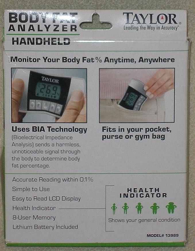 Taylor handheld body fat analyzer 13989