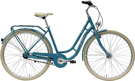 Pegasus bici Italia – Bicicleta para mujer 7 velocidades Shimano Retro City Bike 2017, color petróleo, tamaño 55 cm: Amazon.es: Deportes y aire libre