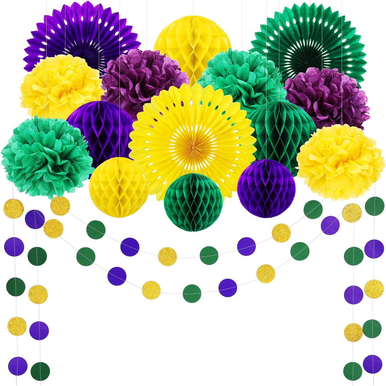 Mardi Gras Staws Purple Yellow Green and Gold Straws Mardi Gras Decor