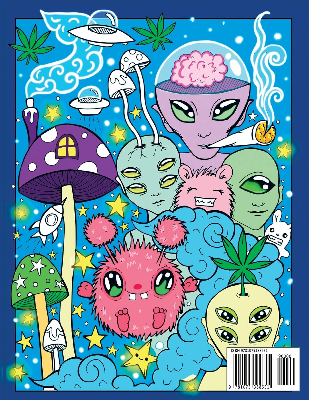 - Stoner Coloring Book For Adults: The Stoner's Psychedelic Coloring