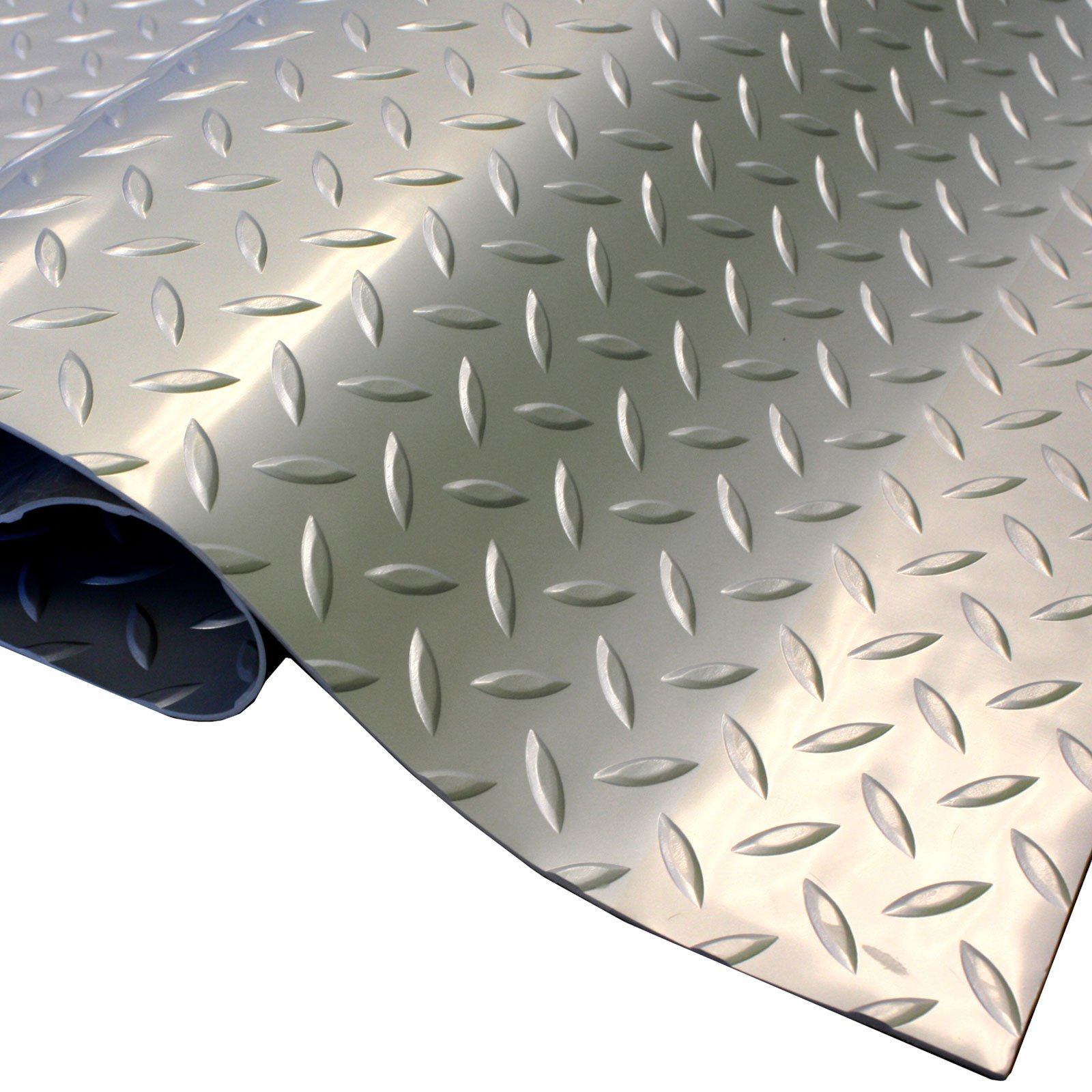 IncStores Standard Grade Nitro Garage Flooring (5' x 7.5', Diamond Stainless Steel) Roll Out Floor Protecting Mats by IncStores (Image #3)