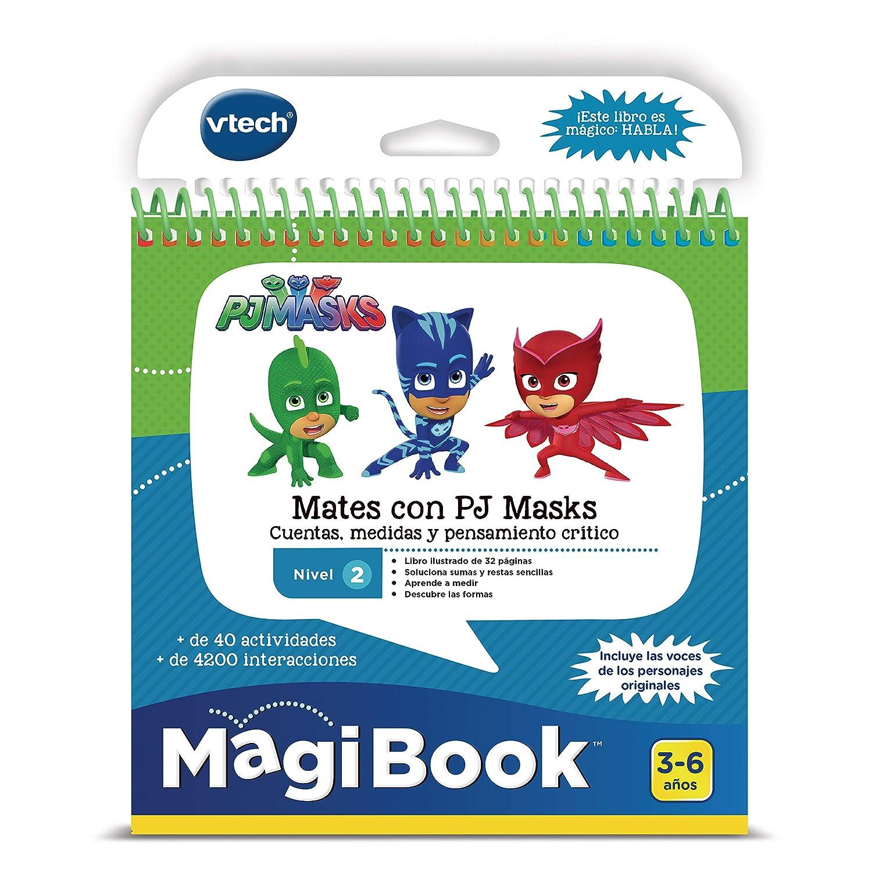 VTech MagiBook PJ Masks, Libro Interactivo Educativo Que refuerza el Aprendizaje en Diferentes materias, a través de más de 40 Actividades y 4200 ...