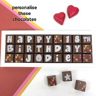 Birthday Chocolate Box - Personalised Chocolate Gift - Milk Chocolate Birthday Gift - Customised Chocolate Gift