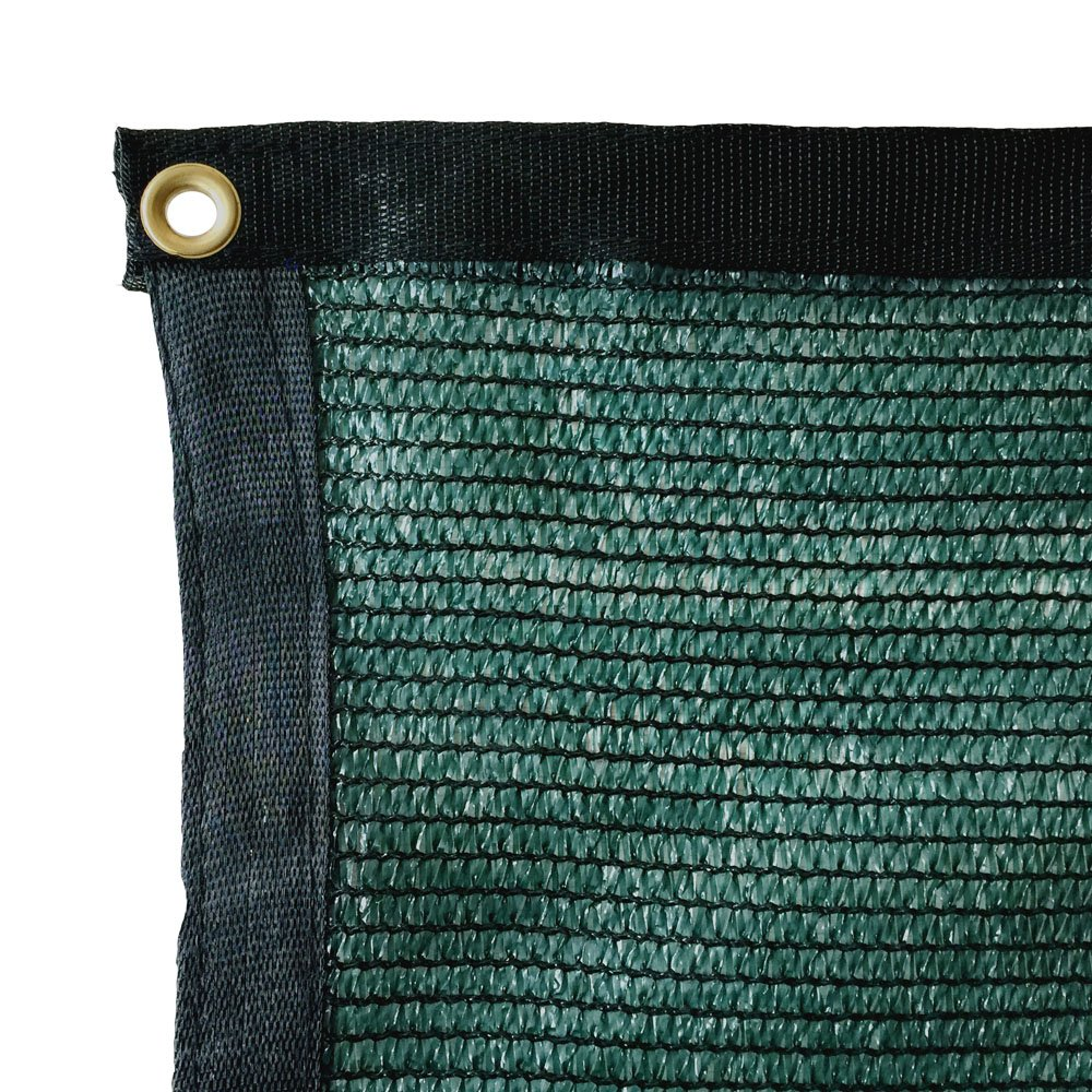 Yisin 50 Green Shade Cloth Taped Edge With Grommets Uv 20