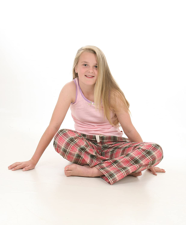 Mini Vanilla Woven Pink Check Lounge Pants
