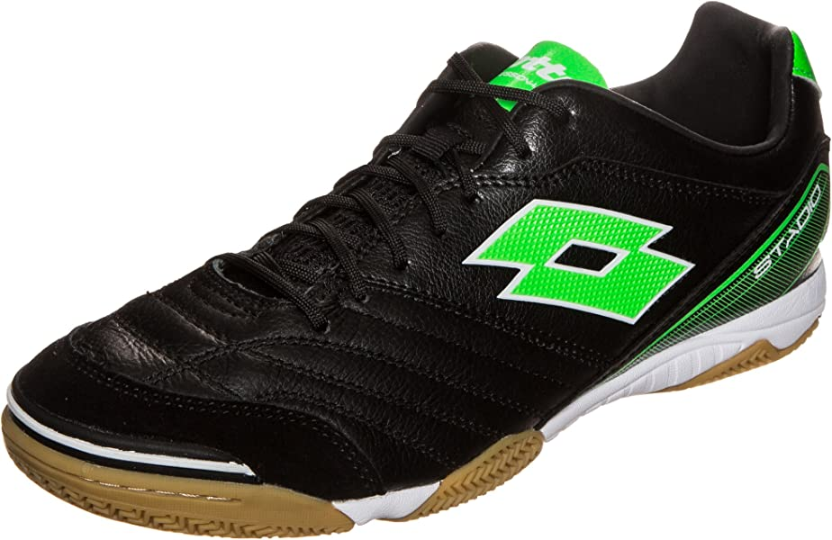Lotto Mens Stadio 300 ID Soccer Sneakers, Black, ...