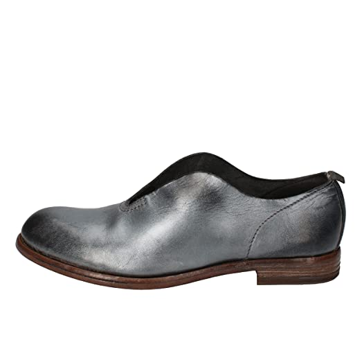 Loafers Woman 6 US/36 EU Silver Leather