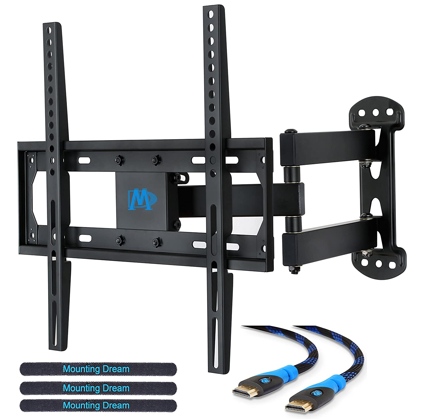 tv wall mount bracket for most 26 55 inch with tilt swivel level adjustment ebay. Black Bedroom Furniture Sets. Home Design Ideas