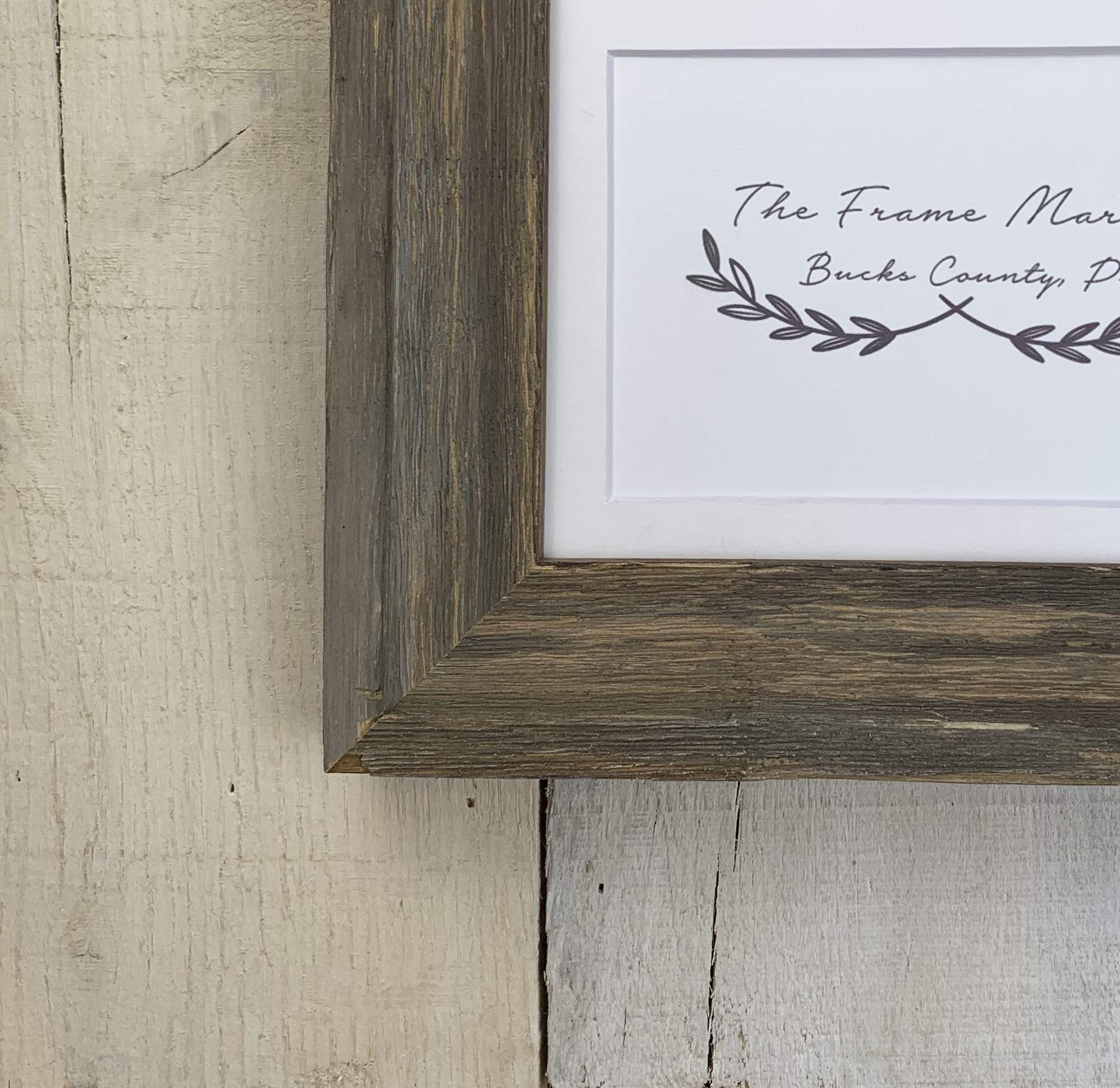 Bucks County Barnwood Picture Frame 8x10, 9x12, 11x14, 14x16, 16x20 Standard and custom sizes available. by TheFrameMarket