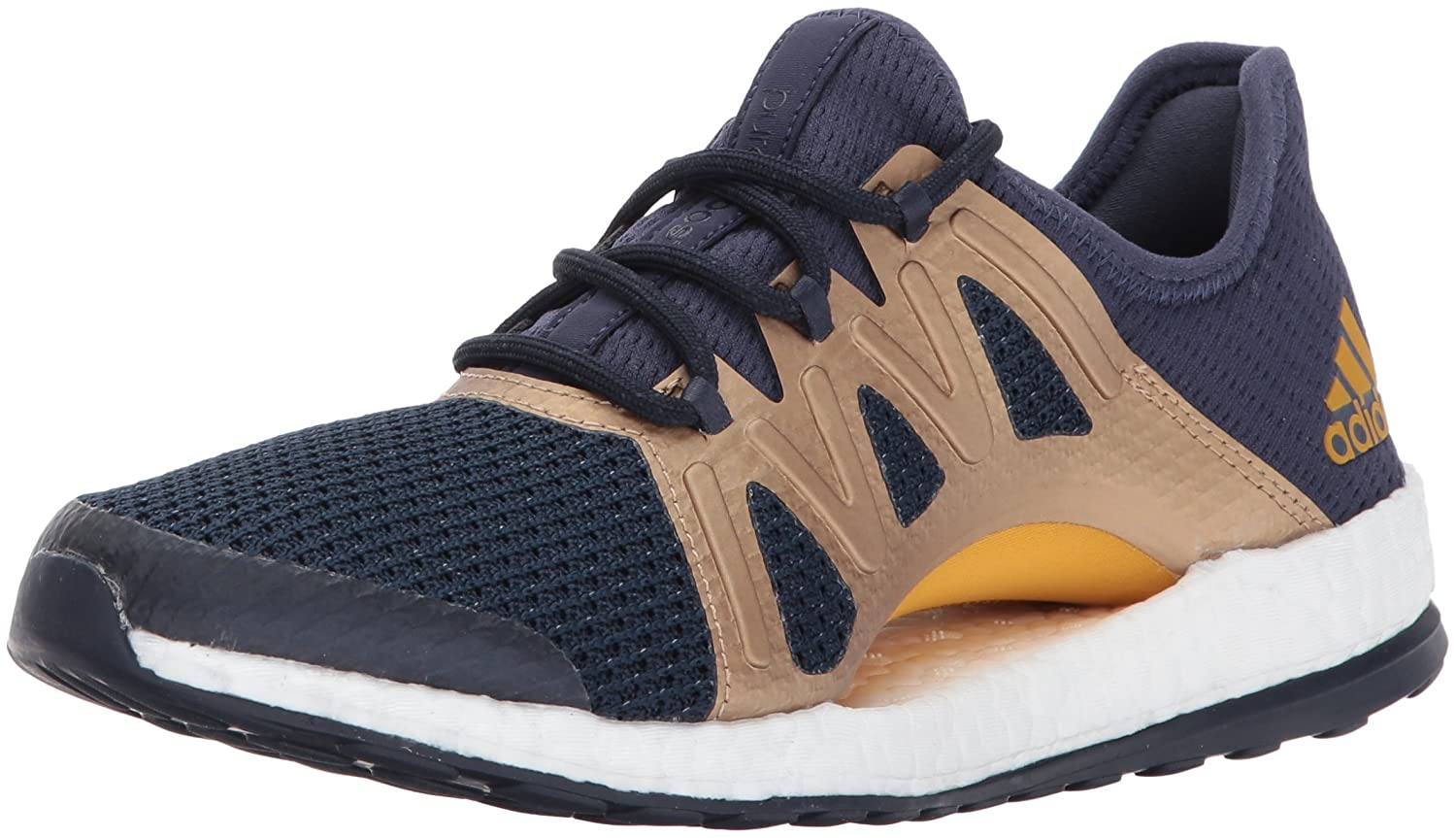 adidas Women's Pureboost Xpose B01MQNG491 5.5 B(M) US|Trace Blue/Tactile Gold /Legend Ink