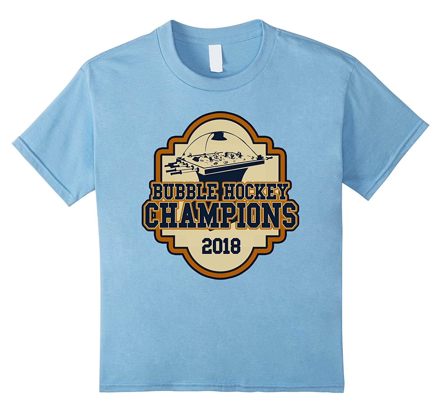 Kids Bubble Hockey Champions T Shirt-Colonhue