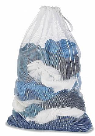 ropa de red para lavadora, blanca Malla Bolsas de ropa para ...