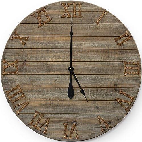 Wall Charmers Farmhouse Wall Clock|Big Wall Clock Big Clock