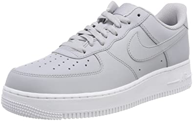 best service 3c708 c8ec4 Nike Air Force 1 07, Baskets Homme, Gris Wolf Grey-White 010,