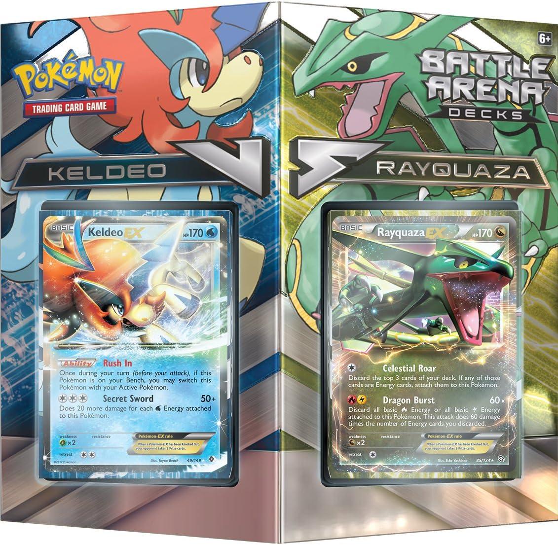 PoKéMoN Juego de Cartas POK80168 TCG Battle Arena Rayquaza vs Keldeo: Amazon.es: Juguetes y juegos