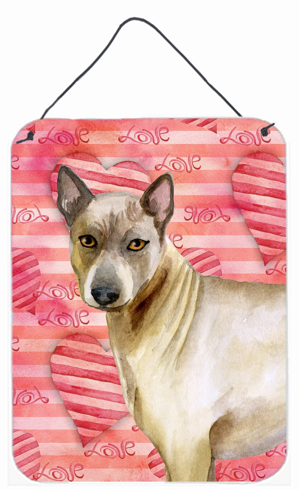 Caroline's Treasures Thai Ridgeback Love Metal Print, 16'' x 12'', Multicolor by Caroline's Treasures