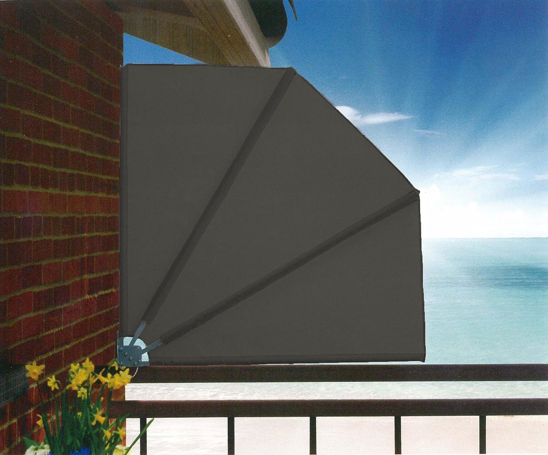 Sichtschutz Fächer Premium 140x140cm Balkon Trennwand Anthrazit