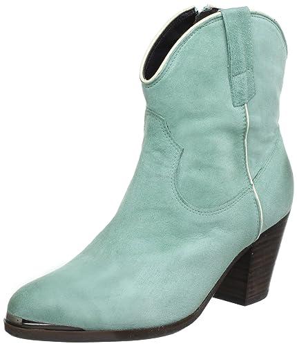 a3617e6e101 billi bi Copenhagen Womens Billi Bi Cowboy Boots Green Grün (Mint 5045  Suede/offwhite