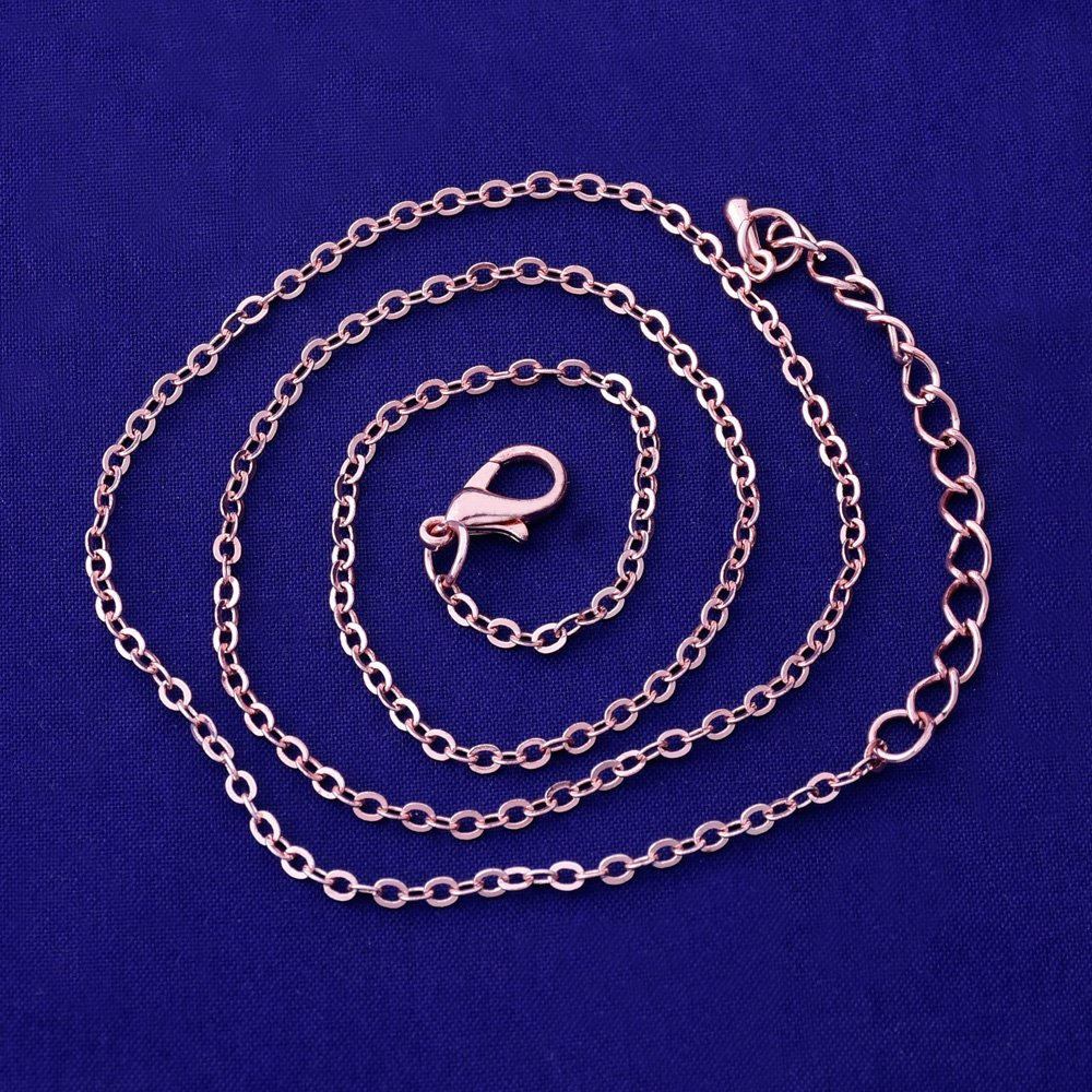 14(36cm) Necklace Chain Metal chains with lobster clasp Necklace Jewelry Supplies, sold 20pcs/lot(Nickel) Rosebeading