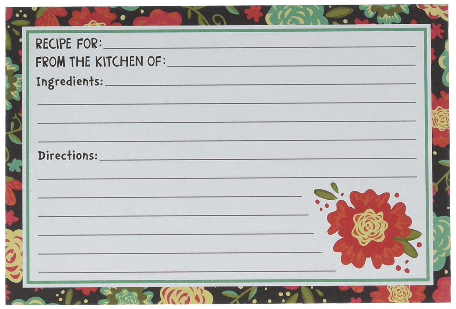 Darice My Family Recipes Recipe Cards - Happy Day - 40 count 1219-543