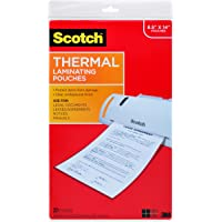 Scotch Thermal Laminating Pouches, 8.9 x 14.4-Inches, Legal Size, 20-Pack (TP3855-20)