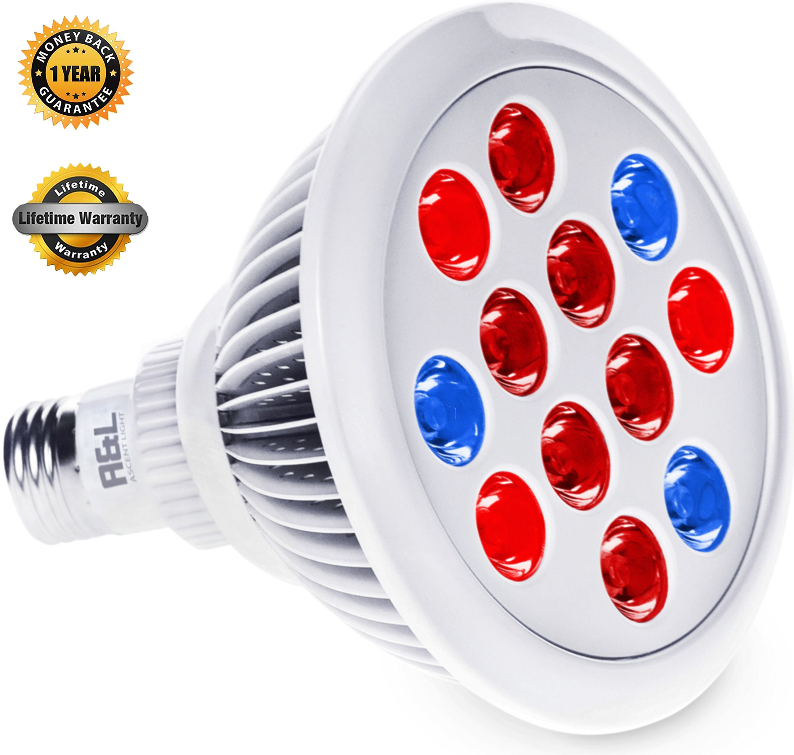 LED Grow Light Bulb   Greenhouse Hydroponics For Organic Indoor Gardening    Lifespan Warranty, High Luminosity, Wide Coverage   Let Your Plant To Touch  The ...
