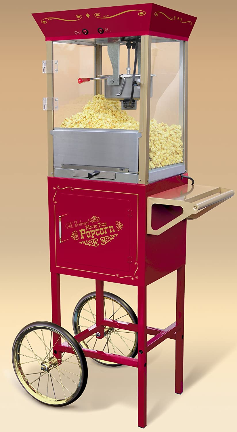 Nostalgia Electrics Old Fashioned Large Popcorn Cart ...