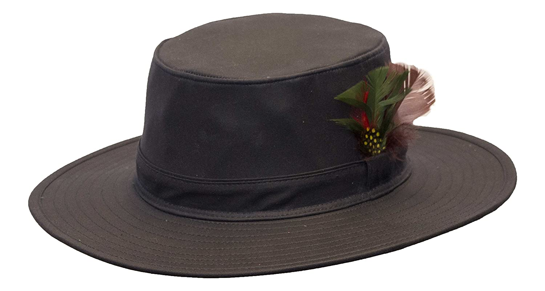 Navy Walker /& Hawkes Unisex Wax Outback Aussie Wide Brim Hat