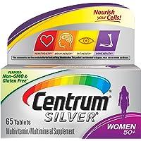 Centrum Silver Multivitamin for Women 50 Plus, Multivitamin/Multimineral Supplement with Vitamin D3, B Vitamins, Calcium…