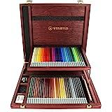 Stabilo CarbOthello Chalk-Pastel Colored Pencil, 4.4 mm - 60-Color Wooden Case Set