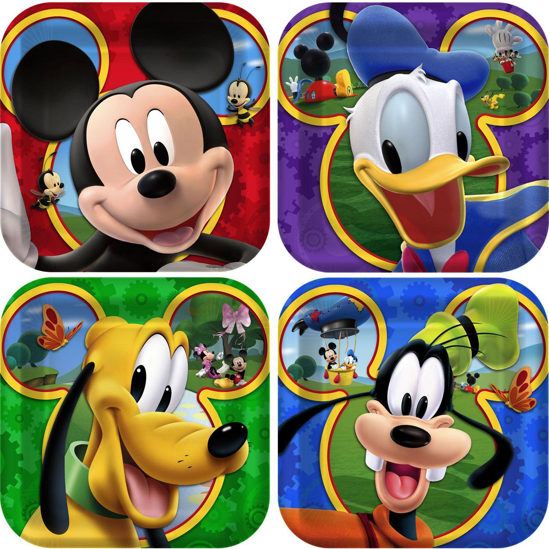 Amazon.com Mickey Mouse u0027Playtimeu0027 Small Paper Plates (8ct) Toys u0026 Games & Amazon.com: Mickey Mouse u0027Playtimeu0027 Small Paper Plates (8ct): Toys ...