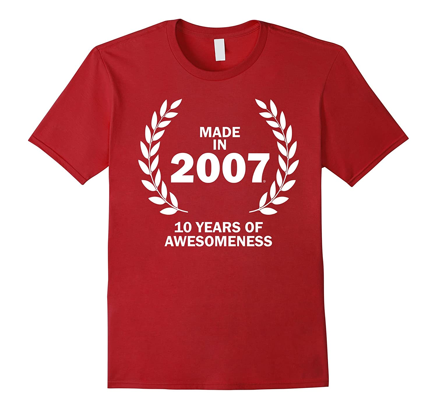 10th Birthday Gifts Made in 2007 T-Shirt-TH
