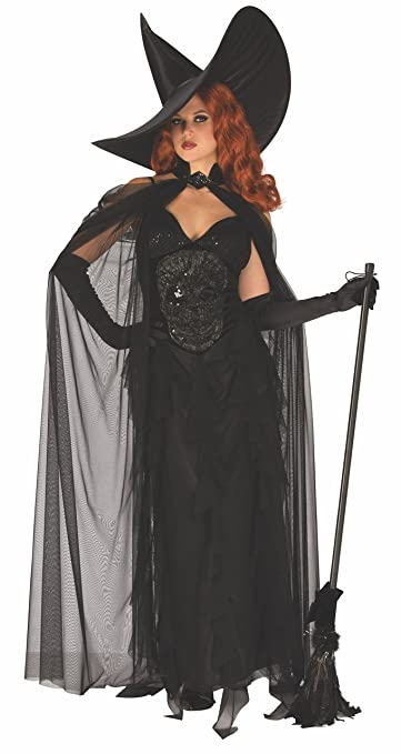 50s Costumes | 50s Halloween Costumes Rubies Elegant Wicked Witch Womens Costume $44.99 AT vintagedancer.com