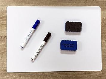 Immuson Magnetic Dry Erase Board 17u0026quot;x12u0026quot; Refrigerator Message Board  Dry Erase White Board