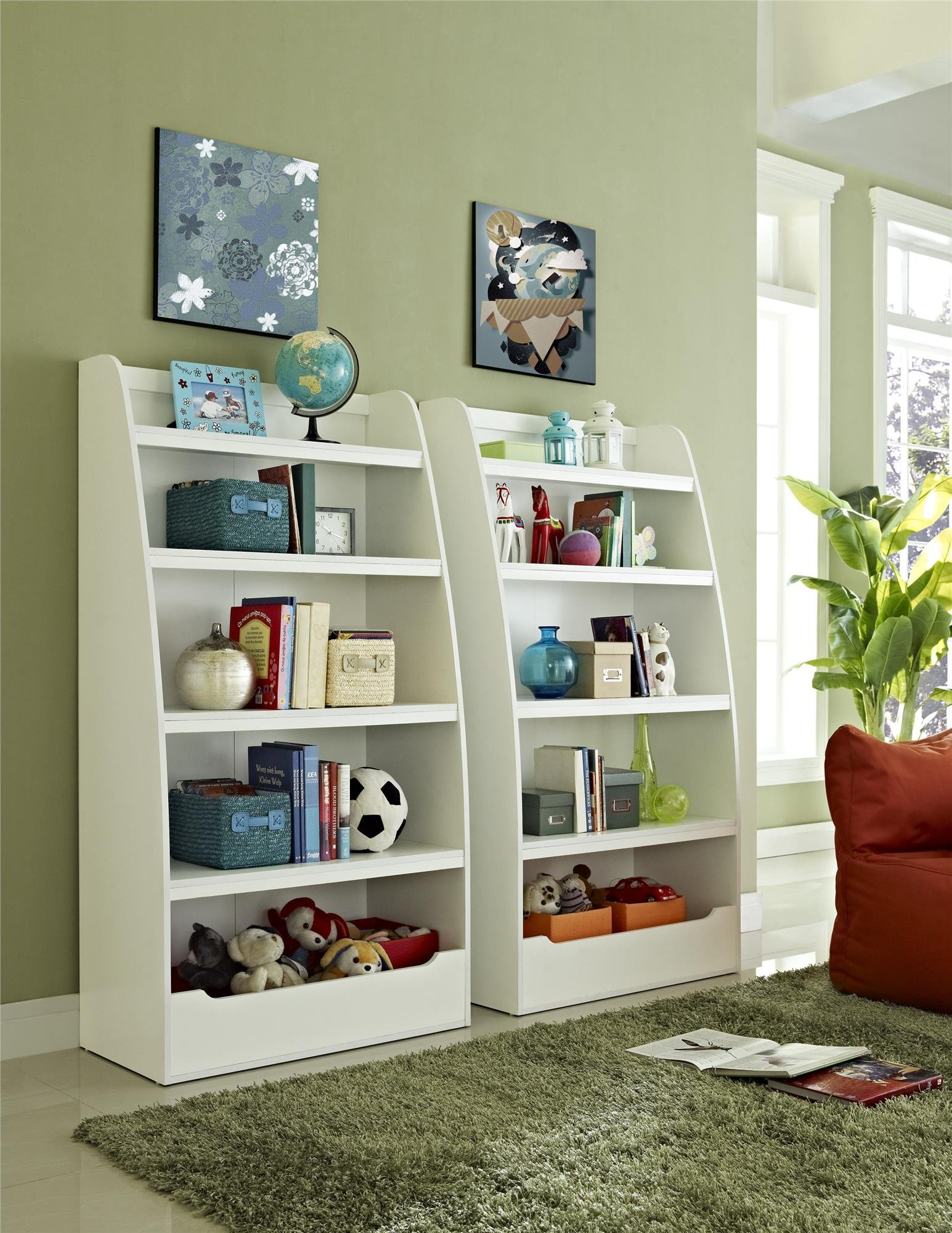 Ameriwood Home Hazel Kids' 4 Shelf Bookcase, White by Ameriwood Home (Image #6)