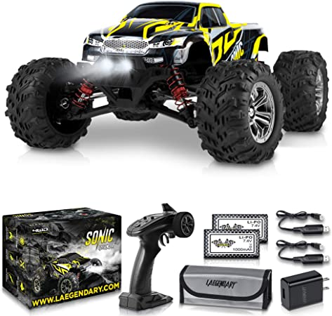 Amazon Com 1 16 Scale Large Rc Cars 36 Kmh Speed Boys Remote Control Car 4x4 Off Road Monster Truck Electric All Terrain Waterproof Toys Trucks For Kids And Adults 2
