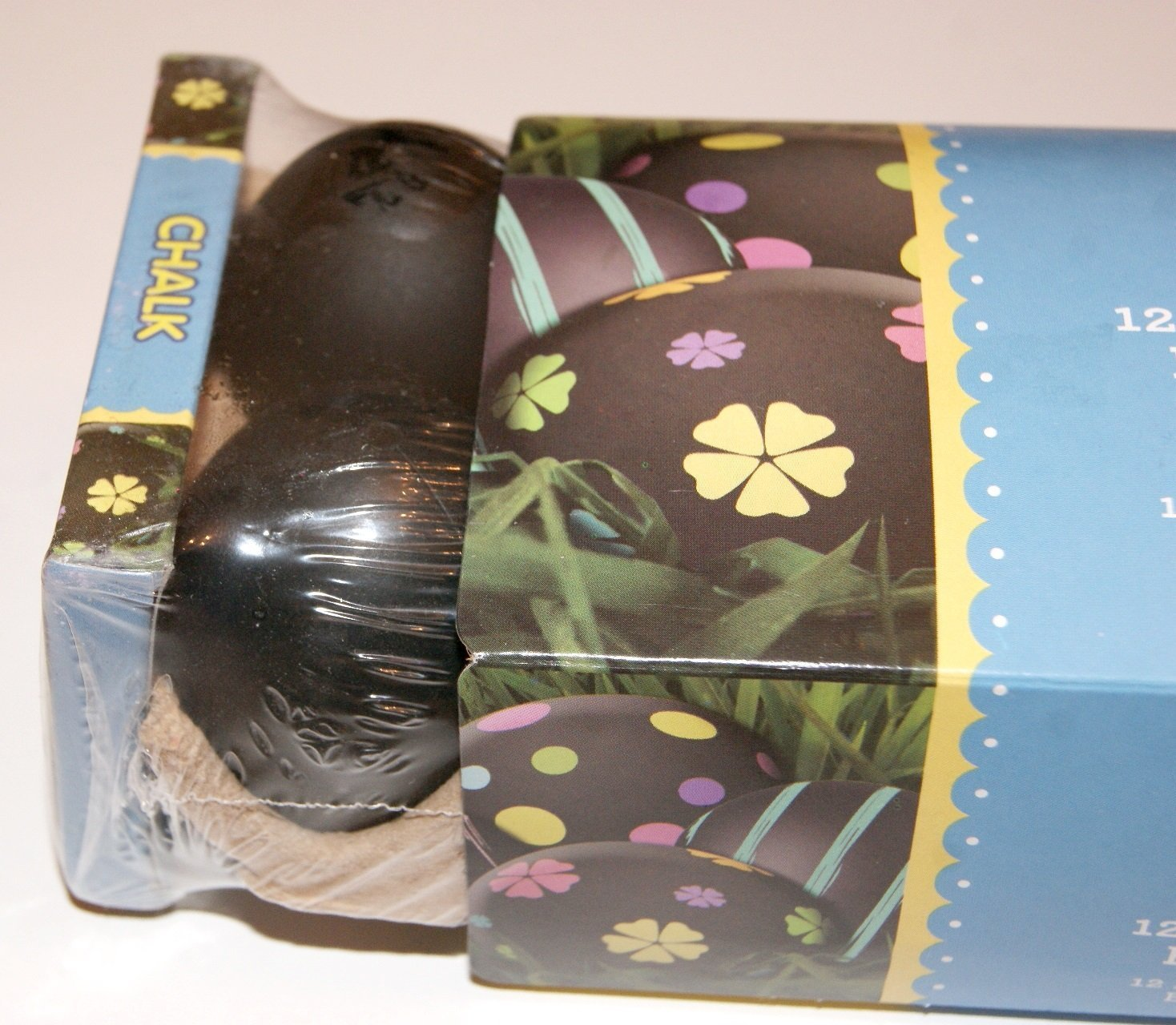 3 pack of 12 Chalk Board Black Non Fillable Plastic Easter Eggs with Chalk by Walmart (Image #2)
