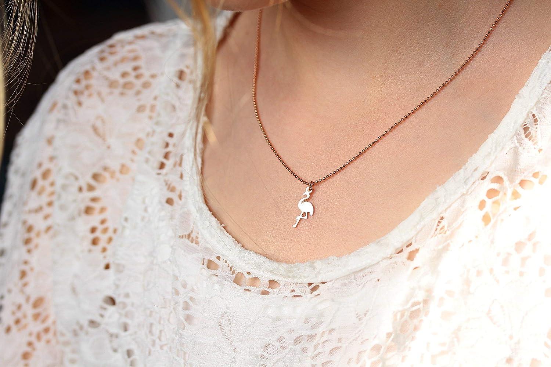 Ros/égoldfarben Kette Flamingo
