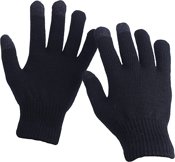 Black Touch Screen Magic Winter Gloves Mens Ladies For Smartphone Tablet